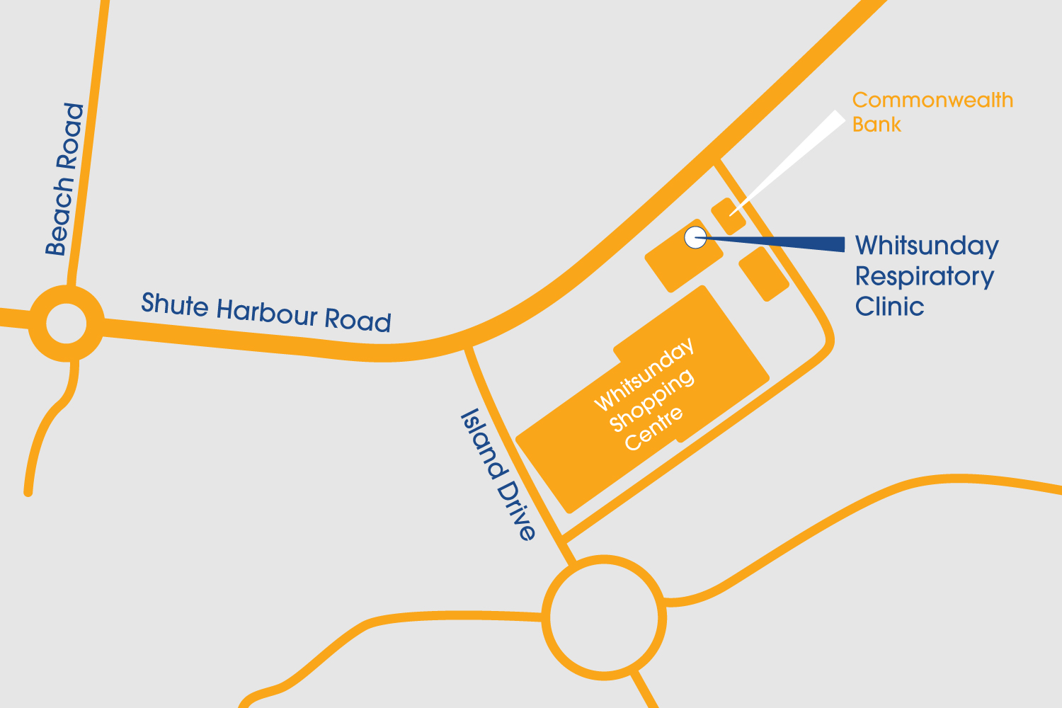whitsundays respiratory clinic - gp proserpine, airlie beach & cannonvale clinic map